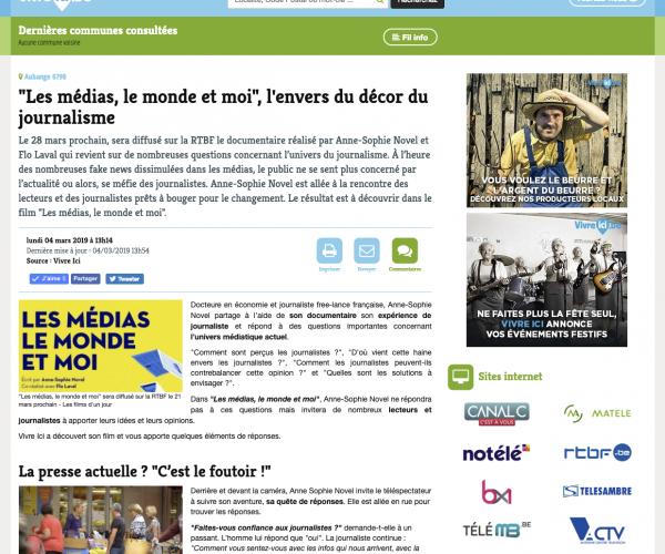 Article Vivre Belgique